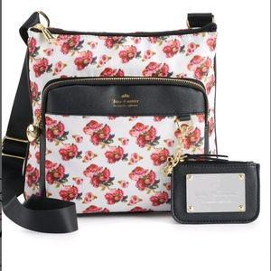 NWT Juicy Couture Varsity Blooms Mid Crossbody Bag